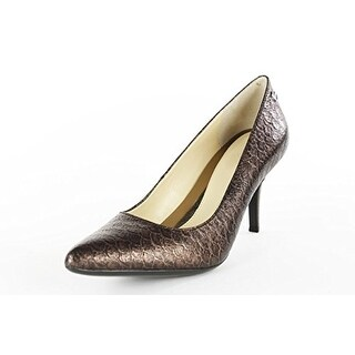Calvin Klein Women's Pump Heels - Burgundy Metallic Fish