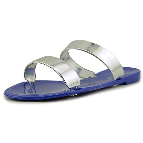 Bamboo Dalia-02 Women  Open Toe Synthetic Blue Slides Sandal