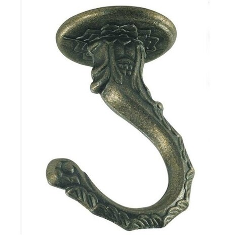 "Westinghouse 7044100 Large Swag Hook, Antique Brass, 2-1/2"""
