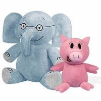 "Elephant 7"" & Piggie 5"" Plush Set"