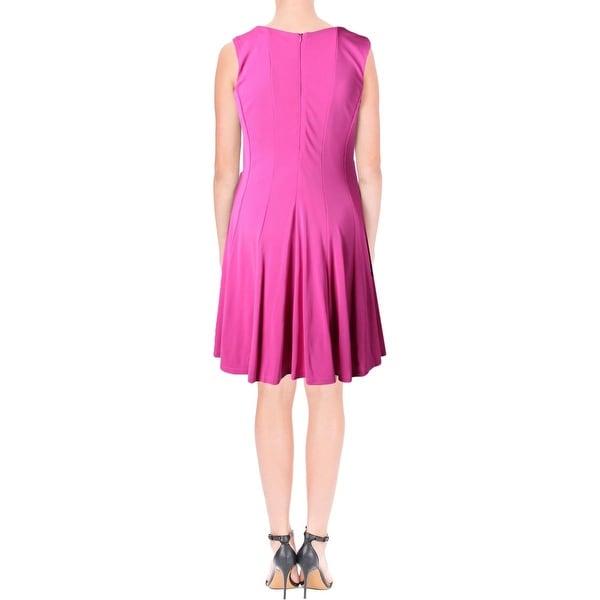 Lauren Ralph Lauren Womens Casual Dress Sleeveless Fit & Flare