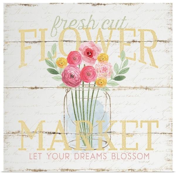 """""""Flower Market"""" Poster Print"""