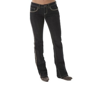 Cowgirl Tuff Western Denim Jeans Womens Golden Sequins Barb Dk