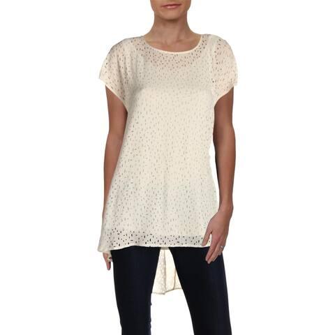 Eileen Fisher Womens Blouse Silk Hi-Low
