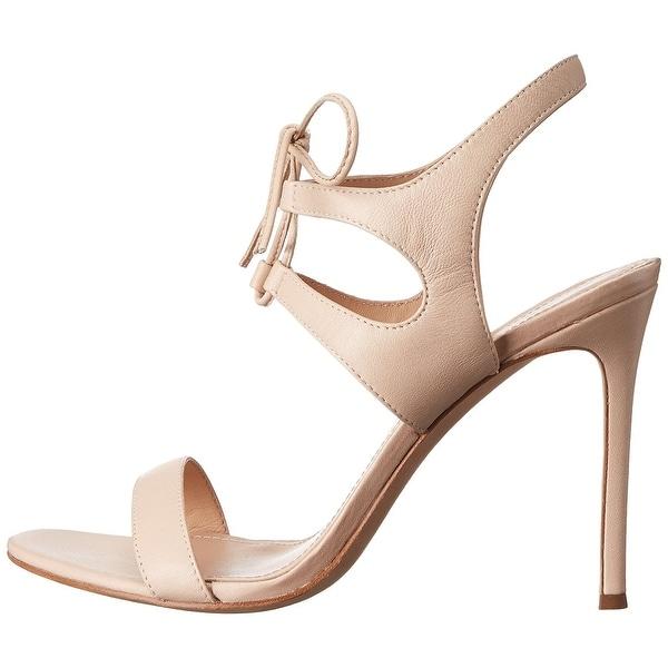 Pour La Victoire Womens Elisa Leather Open Toe Casual Slingback Sandals