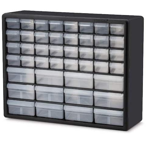 Hardware Craft Fishing Garage Storage Cabinet in Black with Drawers - 6.4 x 20 x 15.8 inches