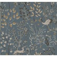 York Wallcoverings LL4786 Urban Aspen Wallpaper - Blue