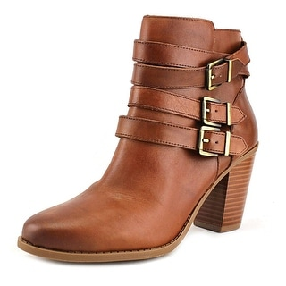 INC International Concepts Laini Women  Round Toe Suede Tan Ankle Boot