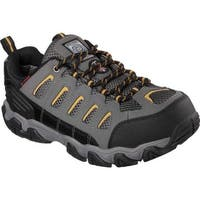 Skechers Men's Work Blais Steel Toe Lace Up Dark Gray