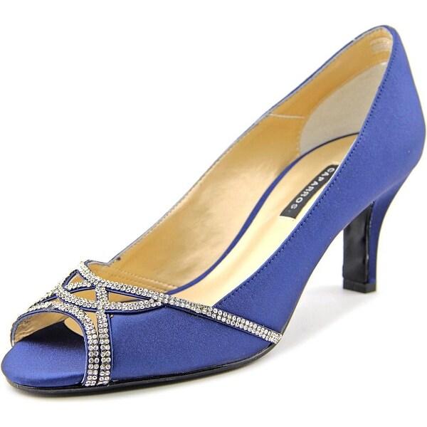 Caparros Endear Women Open-Toe Canvas Blue Heels