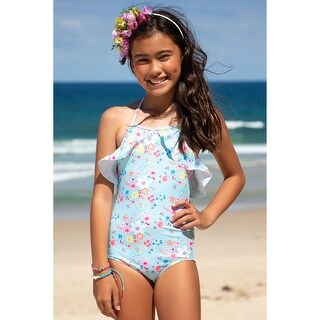 Link to Sun Emporium Vintage Meadow Print Ruffle One-Piece Swimsuit Little Girls Similar Items in Girls' Clothing