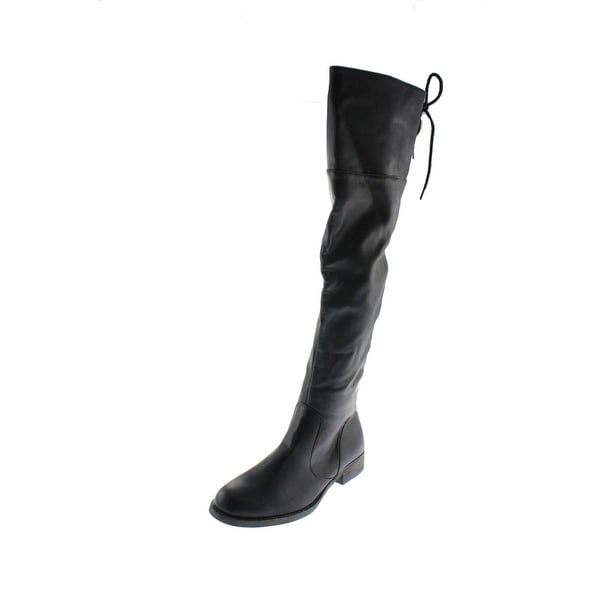 Mia Womens Minute Over-The-Knee Boots Faux Leather Riding