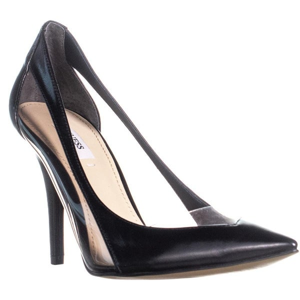 Shop GUESS Japeen Black Transparent Pointed Toe Heels, Black Japeen - 8.5 us - - 23445841 f4ac52