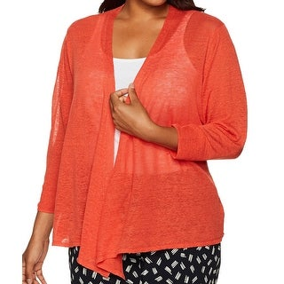 NIC+ZOE NEW Orange Way Cardy Women's Size 1X Plus Cardigan Sweater