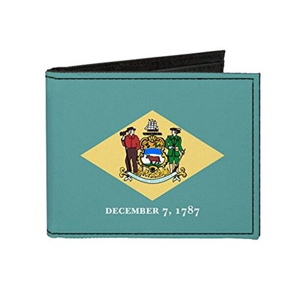 Buckle-Down Canvas Bi-fold Wallet - Delaware Flag Accessory