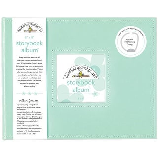 "Doodlebug Storybook Album 8""X8""-Mint"