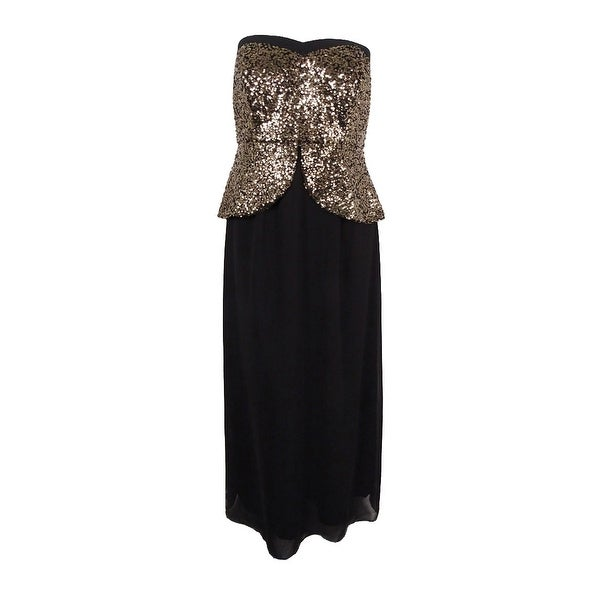 9b1fd523950 Shop City Chic Women s Plus Size Strapless Sequined Peplum Gown (XS ...