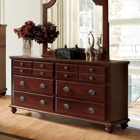 Furniture of America Sibu Transitional Cherry 6-drawer Dresser