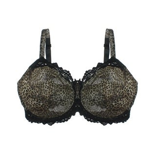 Whimsy Womens Lace Trim Sheer Full Coverage Bra - 36g