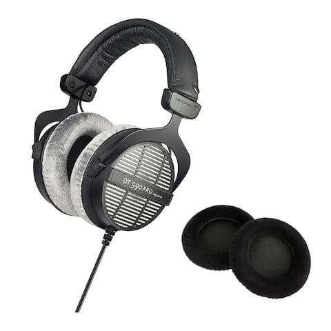 Beyerdynamic DT-990 Pro Open Dynamic Headphones w/ Silver Earpads Set