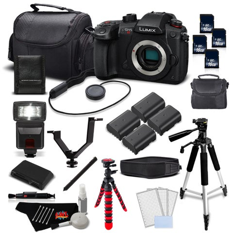 Panasonic Lumix DC-GH5S Mirrorless MFT Digital Camera Intl Version Mega Extra Accessories Bundle