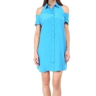 Amanda Uprichard NEW Blue Women's Size Small S Kent Shirt Dress