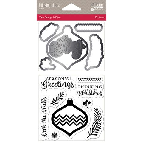 Jillibean Soup Shaker Clear Stamps & Die Set-Thinking Of You