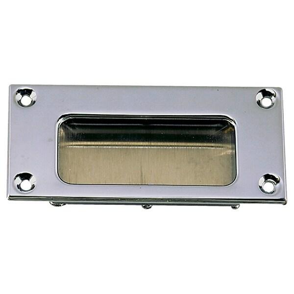 """Perko flush pull - cp zinc 3-11/16"""" x 1-11/16"""""""