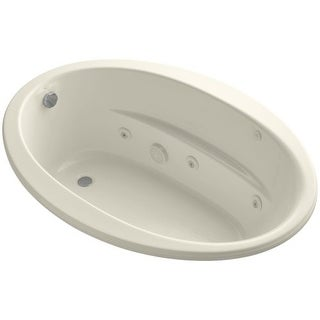 "Kohler K-1162-S1 Sunward Collection 60"" Drop In Jetted Whirlpool Bath Tub with Reversible Drain"