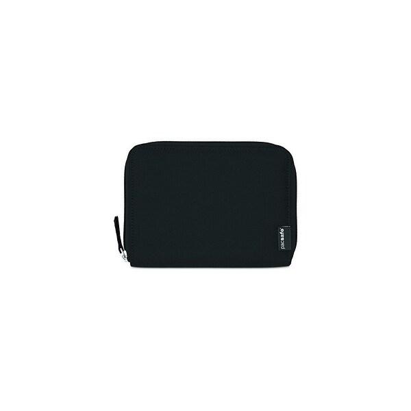 Pacsafe RFIDsafe LX150-Black RFID Blocking Zippered Passport Wallet w/ Note Slot