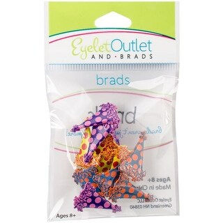 Eyelet Outlet QBRD2-23 Party Hat Shape Brads - 12 per Pack