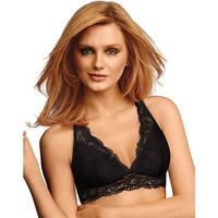 Maidenform Lace-T-Back Bralette - Size - L - Color - Black