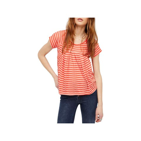 Free People Womens JoJo Pullover Top Striped Casual