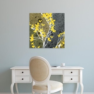 Easy Art Prints James Burghardt's 'Moon Flowers II' Premium Canvas Art