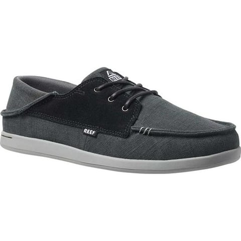 Reef Men's Cushion Bounce Cove Sneaker Black/Charcoal Natural Fiber/Suede