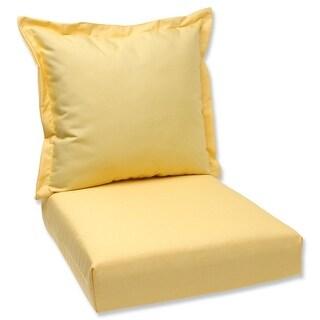 "44"" Sunbrella Yellow Outdoor Patio Deep Seating Cushion and Back Pillow"