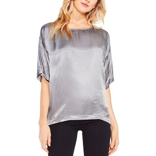 Two by Vince Camuto Womens T-Shirt Satin Metallic