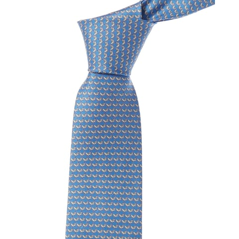 Salvatore Ferragamo Blue Grasshopper Silk Tie - NoSize