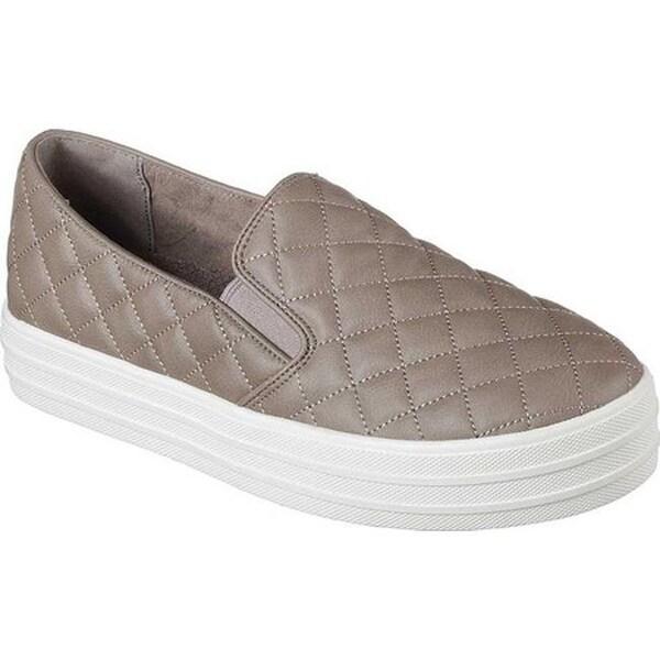 Shop Skechers Damens's Double On Up Duvet Slip On Double Sneaker Dark Taupe b73c5b