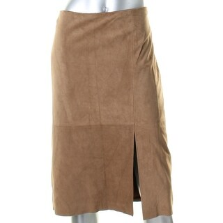 Lauren Ralph Lauren Womens Pencil Skirt Goat Suede Knee-Length