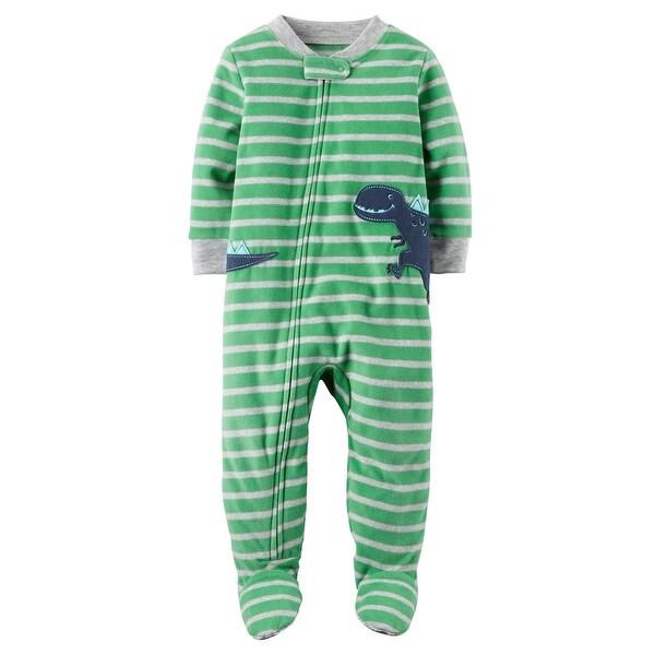 96cc7e9897da Shop Carter s Little Boys  1 Piece Dinosaur Fleece Pajamas