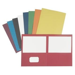 NECI Pocket Portfolio, Letter, 2 Pockets, Green, Pack of 25