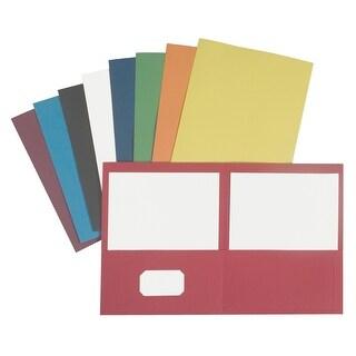 NECI Pocket Portfolio, Letter, 2 Pockets, Light Blue, Pack of 25