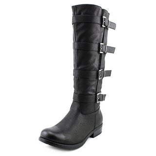 Two Lips Too Joss Women Round Toe Leather Knee High Boot