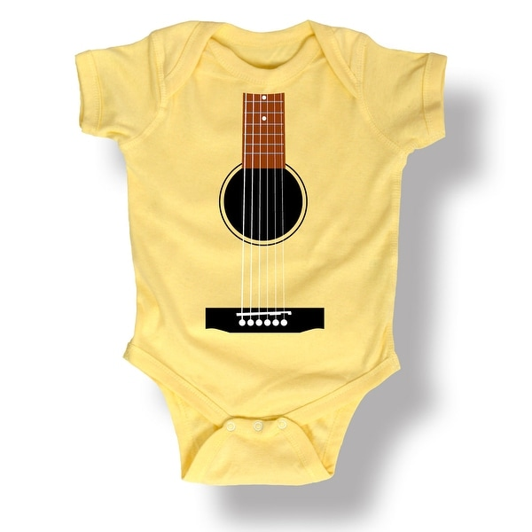 Acoustic Guitar Cute Musical Gift Music Novelty Band Baby One Piece - Banana