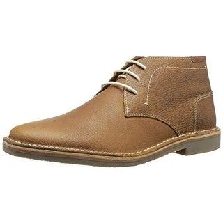 Steve Madden Mens Helman Leather Embossed Chukka Boots