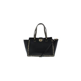BCBG Paris Womens Tote Handbag Faux Leather Studded - Large