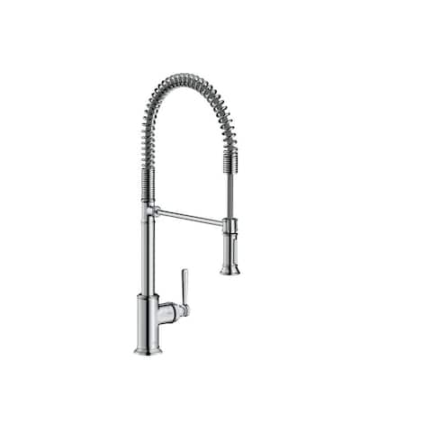 Axor 16582 Montreux Single Handle Semi-Pro Kitchen Faucet with Toggle Spray Diverter - Engineered in Germany, Limited Lifetime
