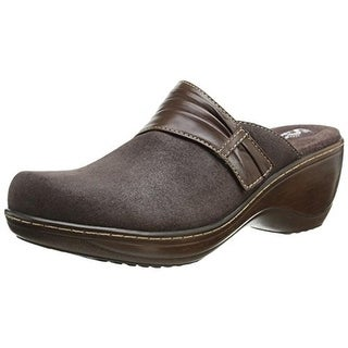 SoftWalk Womens Mason Suede Casual Clogs