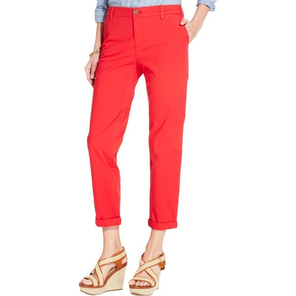 30afabdd Shop Tommy Hilfiger Womens Hampton Chino Pants Casual Slim Fit ...